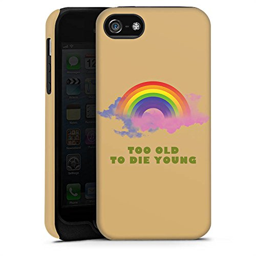 Apple iPhone X Silikon Hülle Case Schutzhülle Regenbogen Rainbow Leben Tough Case matt