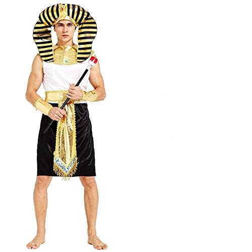 thematys Pharao Ägypten Kostüm-Set für Herren - perfekt für Fasching, Karneval & Cosplay - Einheitsgröße 160-180cm (Style (Ägypten Pharaonen Kostüm)