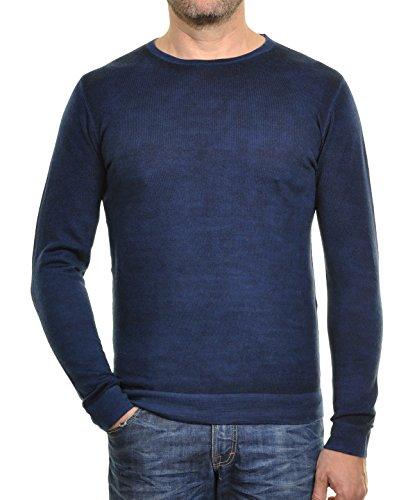 RAGMAN Herren RAGMAN Feinstrickpullover überfärbt Blau meliert-781
