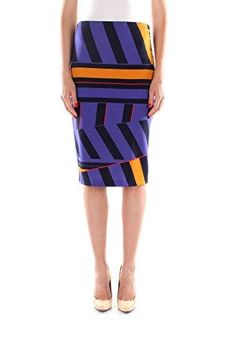 Gonne Pinko Donna Viscosa Blu e Multicolor 1B10RU534EH4 Blu 44