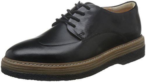 Clarks Women's Zante Zara Brogue, Black (Black Leather), 5.5 UK