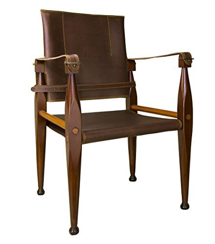 Bridle Leather Campaign Chair -
