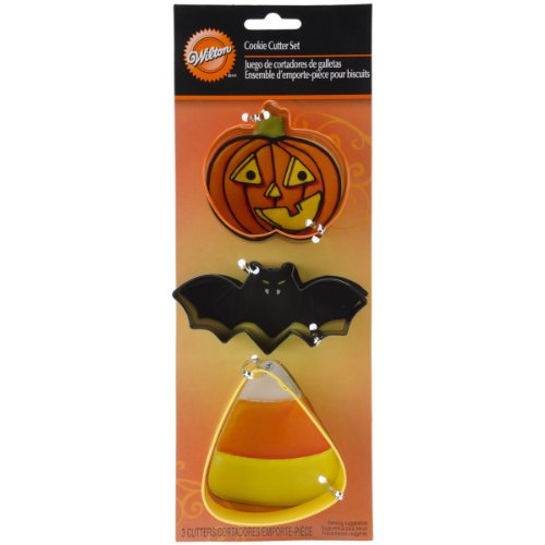 Cookie Cutter Set 3/Pkg-Bat, Jack-O-Lantern And Candy - Wilton Halloween-cookie-rezepte