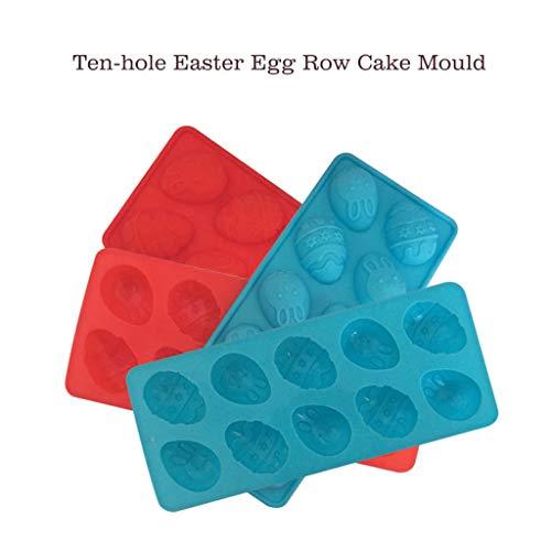 rhasen-Silikon Eier Schokoladenkuchen Seifenform Backen Eiswürfelschale ()