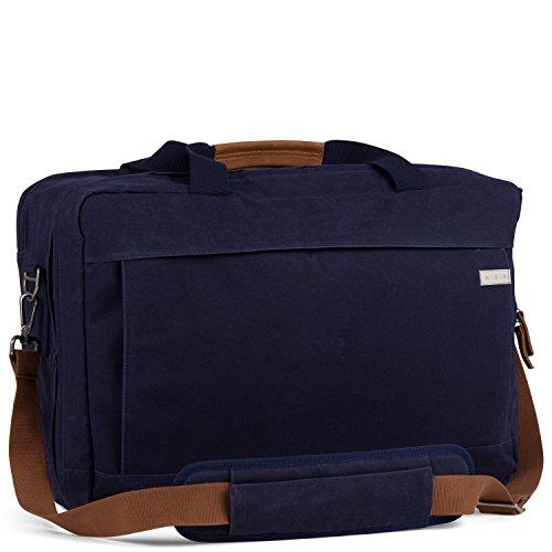AEP Business-Reisetasche Weekender GAMMA für Herren und Frauen inklusive 17 Zoll Laptopfach und Schultergurt - grau Eclipse Blue - dunkelblau
