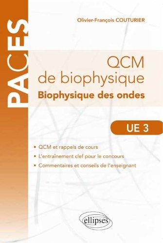 QCM de Biophysique des Ondes UE3 QCM & Rappels de Cours