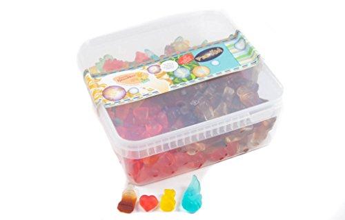 Deine Naschbox - Zuckerfreie Fruchtgummi Naschbox - 4 Sorten - 1kg