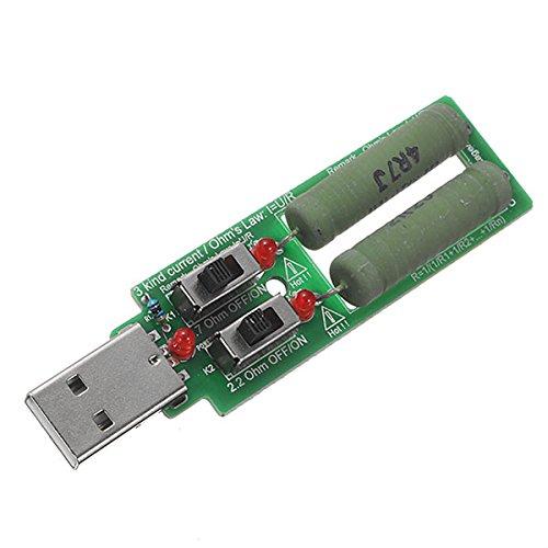 LaDicha 3 pcs JUWEI 5 V 10 W 2 Commutateur USB Chargeur de Décharge de Vieillissement 3 Sortes Test Actuel Charge Résistance Test pour Power Bank Chargeur Cellulaire USB Puissance
