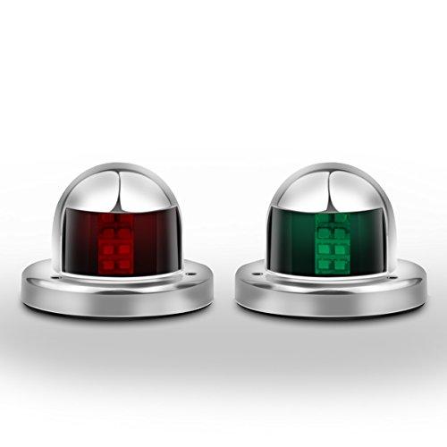 Boots Navigationslicht LED Navigations Lampe Grünes und rotes Marineboot Yacht LED helles Edelstahl Bogen Navigations Lichter 12V 2pcs