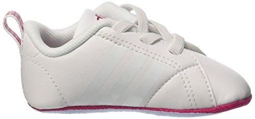 adidas Vs Advantage Crib, Scarpe da Ginnastica Unisex-Adulto Bianco (Ftwbla/Ftwbla/Rosfue)