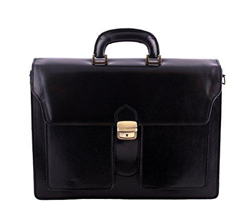 PETER Aktentasche Leder Damen Herren große Leder-Tasche Herren-Tasche Dokumententasche Arbeitstasche leichte Notebook-tasche Laptop-tasche...