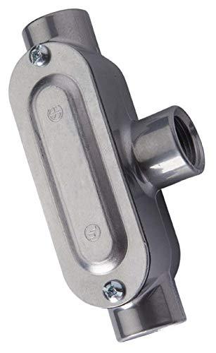Halex 588073/4-Zoll Aluminium Kabelschutzrohr Körper mit Cover und Dichtung Type T -