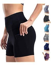 Short De Sport pour Femme Pantalon De Yoga Pantalon De Sport Skinny Taille  Haute Fitness Course c912389af05