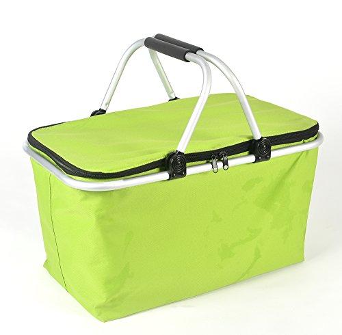 IHOMAGIC Kühltasche Picknicktasche, 32L Lunchtasche Kühltasche Faltbar Thermotasche Kühltasche Mittagessen Tasche Isoliertasche für Auto, Beach, Grillfeste, Camping,...