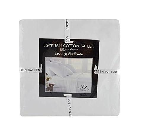 800Filetage Compte 100% coton égyptien Plat, drap-housse, Housse de couette, maison Wife Oxford Taie d'oreiller, crème, Pillowcase Pair -House Wife
