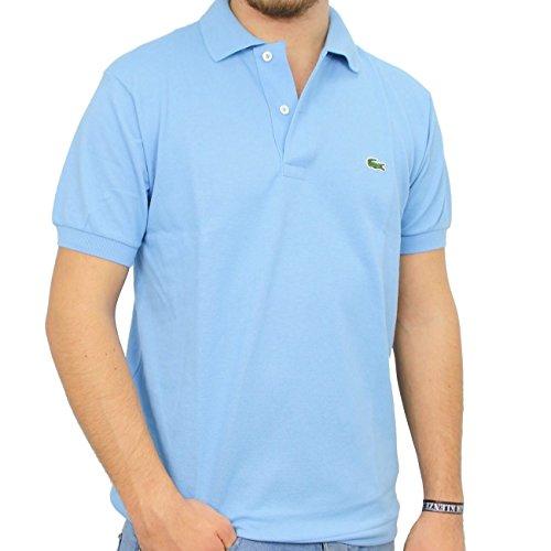 Lacoste Uomo L1212Originale Polo a maniche corte maglietta Blue - Hellblau (NAVAL BLUE 5R4) Small