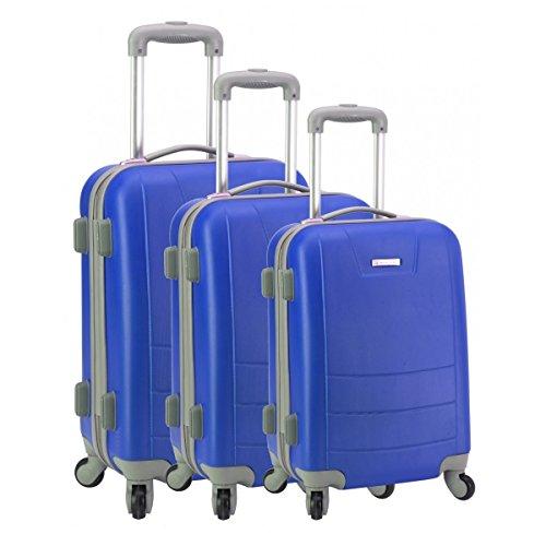 Set de 3 valises 4 roues MADISSON Berlin bleu
