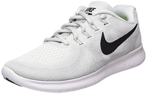 Nike Damen Free Rn 2017 Laufschuhe, Weiß (White-Black-Pure Platinum), 36.5 EU (Elite Sportswear)