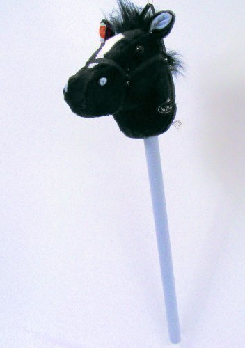 MAGIC HOBBY HORSE WITH SOUND   BLACK