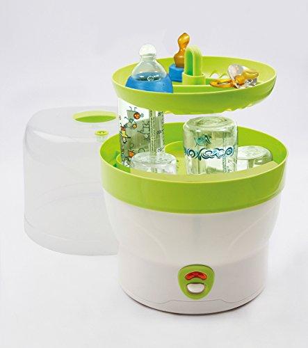H+H BS 29g Babyflaschen-Sterilisator für 6 Flaschen in grün -