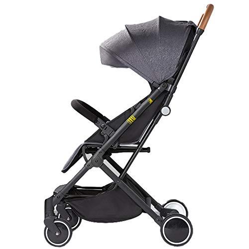 AMENZ Babywagen Reisebuggy Sportwagen Alu Rahmen Umkehrbarer mit Pannenfrei Garantie Comfort Reisebuggy mit Liegefunktion für Kinderwagen Buggy bis 20 kg - Grau