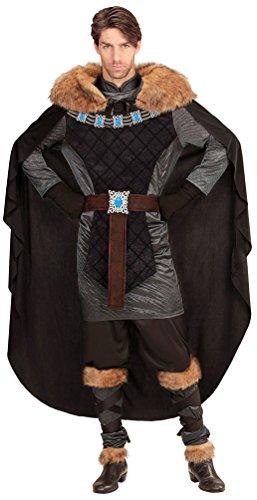 Karneval-Klamotten Ritter-Kostüm Herren Luxus König-Kostüm Herren schwarz-Silber Mittelalter-Kostüm Karneval Herren-Kostüm Größe 54