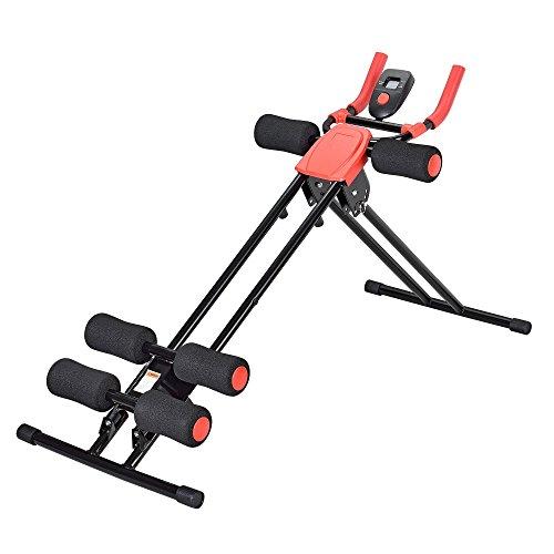 [pro.tec] Banco de musculación - Bodytrainer - en forma en 5 minutos abdominales aparato de fitness - pantalla LCD