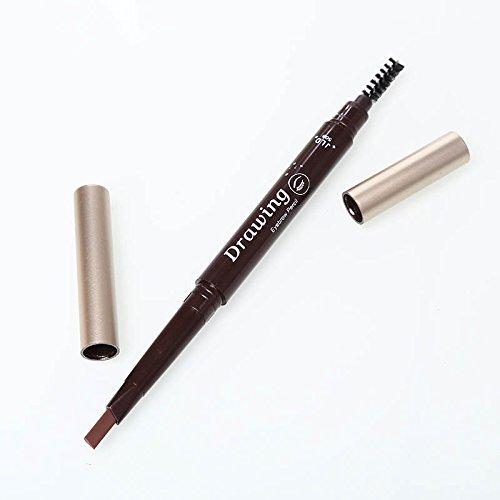 attachmenttou 1 PC rotatif imperméable Sourcil Eyeliner Stylo à sourcils Crayon avec pinceau Outil de beauté cosmétique