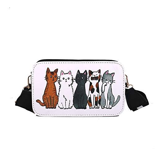 Produp Damenmode Handtasche Cartoon Doodle Ins Tasche Schulter Diagonale Cross-graffiti Kleine Quadratische Tasche
