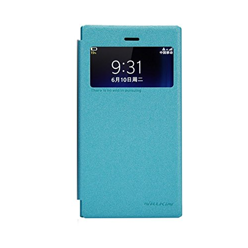Nillkin Sparkle Leather Flip Stand Bumper Back Case Cover For Blackberry Z3 - Blue