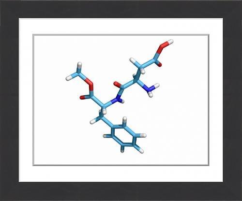 framed-print-of-aspartame-molecule