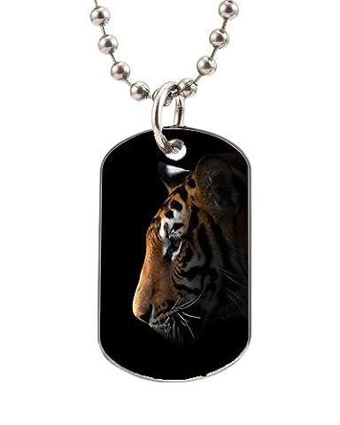 Chien Tags pour animaux de compagnie Tigre symboles avec collier chaîne