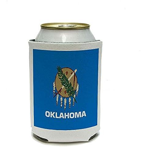 Oklahoma Estado bandera latas–bebida Insulator–Bebida aislado titular