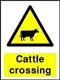 Rinder Crossing Landschaft & Landwirtschaft Hinweisschild Vinyl Aufkleber Best auf eBay