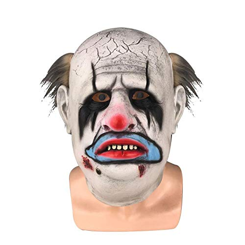 Maske Räuber Kostüm Ohne - fridaymonga Halloween Maske,Erwachsene Horror Scary Maske Halloween Cosplay Clown Face Shield Clown Maske Für Maskerade Dress Up Halloween Kostüm Party Requisiten, Eine Größe