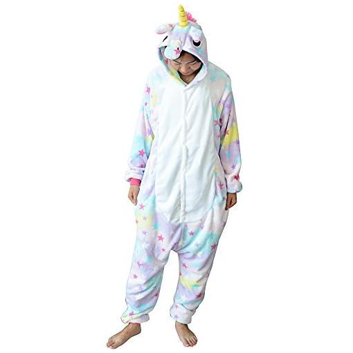 150a9d4479 Pijama Unicornio para Adultos Pijama Animal Invierno Entero de ...