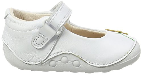 Clarks Kids Little Jam, Baskets Basses fille Blanc (White Leather)