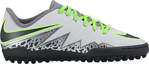 Nike Jr Hypervenom Phelon Ii Tf, Chaussures de Football Mixte Adulte Plateado (Pure Platinum / Black-Ghost Green)