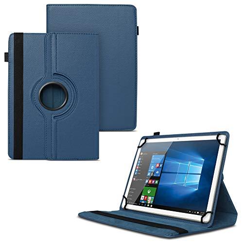 UC-Express NAUCI Odys Cosmo Win X9 Odys Winpad X9 Tablet Universal Schutzhülle aus Kunstleder Hülle Tasche Standfunktion 360° Drehbar Cover Case, Farben:Blau