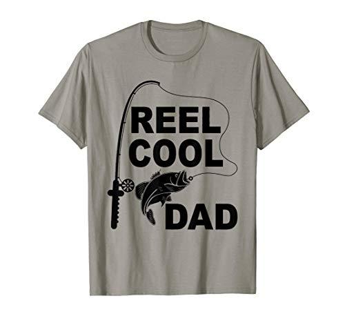 Fishing Real cool dad t shirt fishing dad T-Shirt (Rosa Fly Fishing Reel)