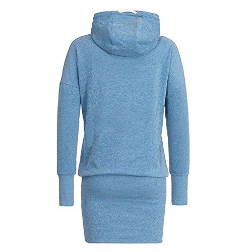 Sweat Femme Sweatshirt Costume Sport Hoodies Brodé Tenue Sport Ensemble Vêtements Sport Robe Pull Kootk Bleu Clair