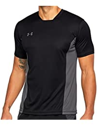 Under Armour Challenger II Training Top Camiseta de Manga Corta, Hombre, Negro (001), XL
