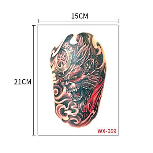 Handaxian 5pcs-Mechanical Arm Tattoo Sticker Blume Arm Lace Eagle Sun Wukong Geisha Tattoo Große Figur Tattoo Sticker 5pcs-32 -