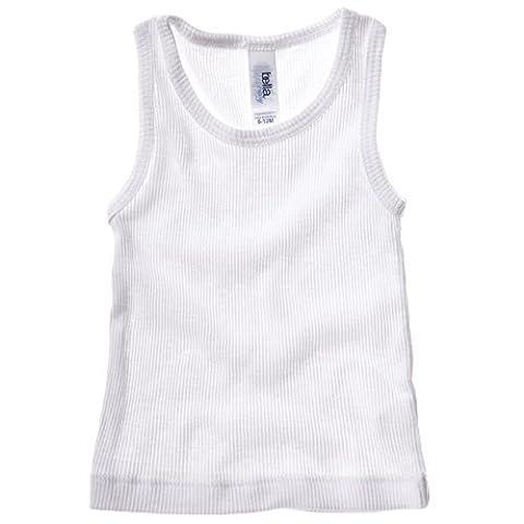 New Bella Canvas Baby Infant Cotton 2x1 Rib Tank Top Vest White 12/18mo.