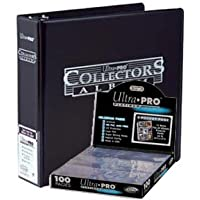 Ultra Pro 3-Ring Collectors Album Black + 100 9-Pocket Platinum Pages - Magic: The Gathering (Pro 9 Pocket)