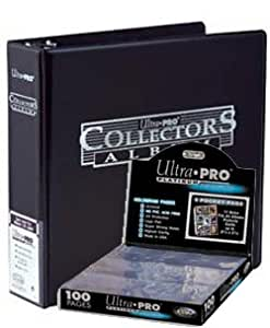 Ultra Pro 3-Ring Collectors Album Black + 100 9-Pocket Platinum Pages - Magic: The Gathering - Yu-Gi-Oh!