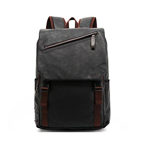 Rucksäcke, Damen Herren PU-Leder Rucksack Vintage Schultasche Unisex PU School Bag Damen Daypacks Student Rucksack Geeignet
