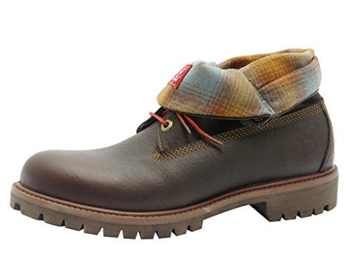 TIMBERLAND roll top-l f/aF-homme-marron-chaussures en matelas grande taille - Marron - Marron foncé, 41