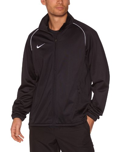 NIKE Herren Jacke Foundation 12 Poly, Black/White, S