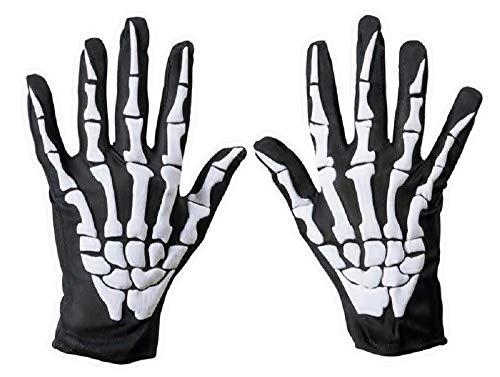 te Handschuhe - Skelett - Knochen - Schwarz - Weiß - Unisex - Männer - Frauen - Zubehör - Verkleidungen - Halloween - Cosplay - Karneval ()